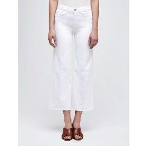 L'AGENCE Wide Leg White Jean